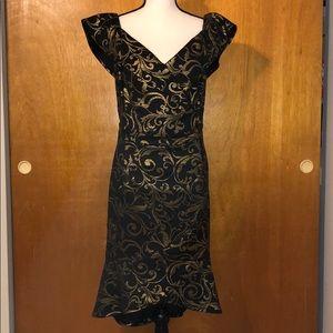 Hi/Lo Gold & Black Dress
